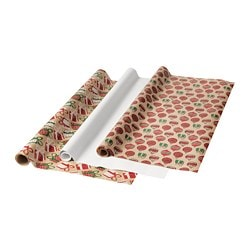 VINTER 2018 gift wrap roll, patterned, white