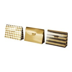 VINTER 2018 gift box, set of 3, gold-colour, black