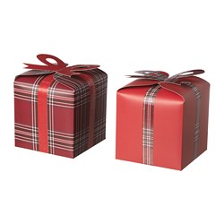 VINTER 2018 gift box, set of 2, red