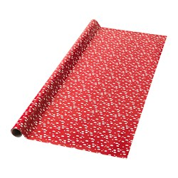 VINTER 2018 gift wrap roll, red, dotted white