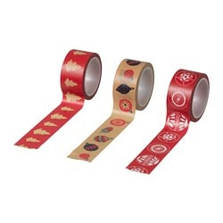 VINTER 2018 roll of tape, patterned, red