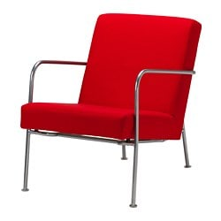 IKEA PS 1999 armchair, Orrsta red