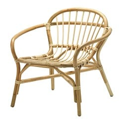 ALBACKEN armchair, rattan, natural