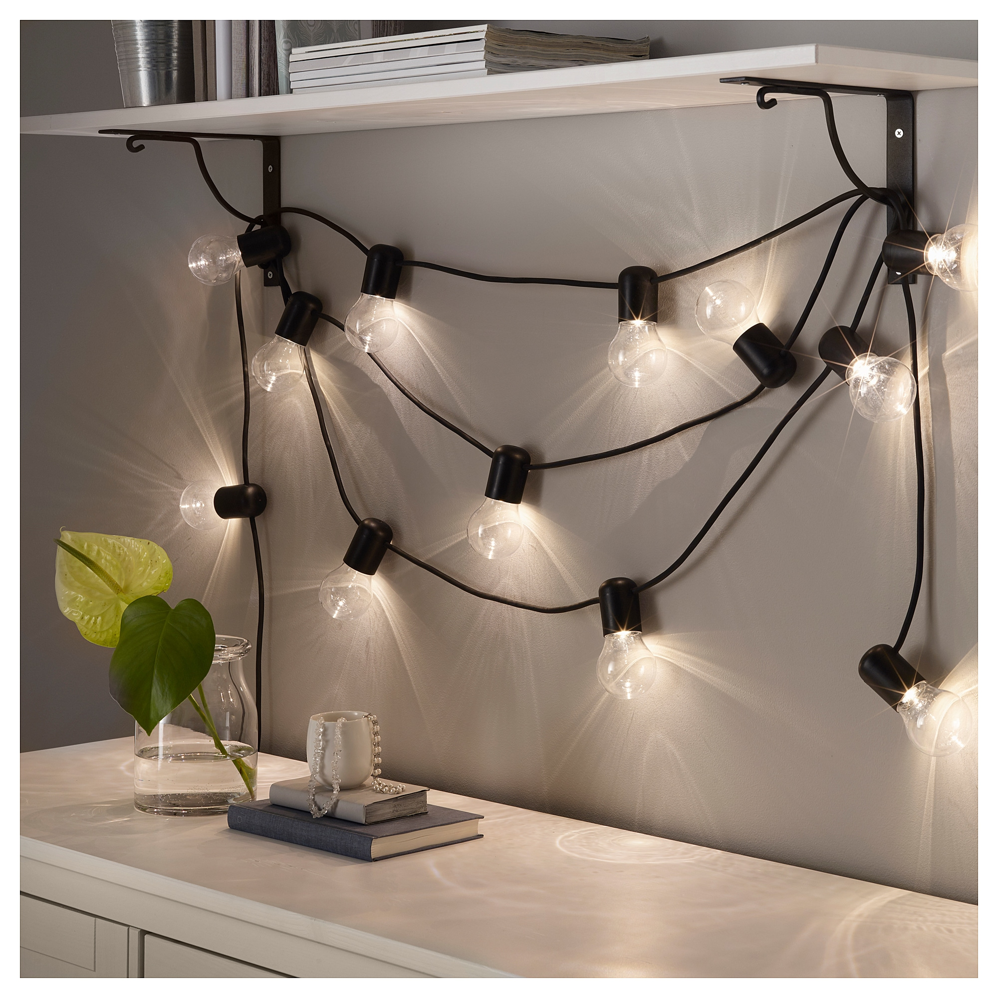 svartrÅ lichterkette (12), led - ikea