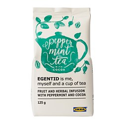 EGENTID fruit and herbal infusion, peppermint/cocoa, UTZ certified