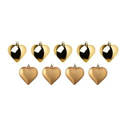 VINTER 2018 hanging decoration, heart, gold-colour