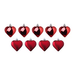 VINTER 2018 hanging decoration, heart, red