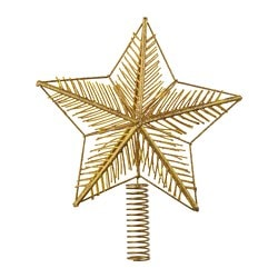 VINTER 2018 tree topper, star, gold