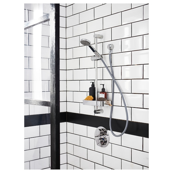 IKEA VALLAMOSSE Riser rail with hand shower/outlet
