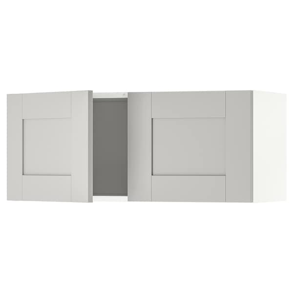 Excellent Knoxhult Wall Cabinet With Doors Gray Interior Design Ideas Ghosoteloinfo