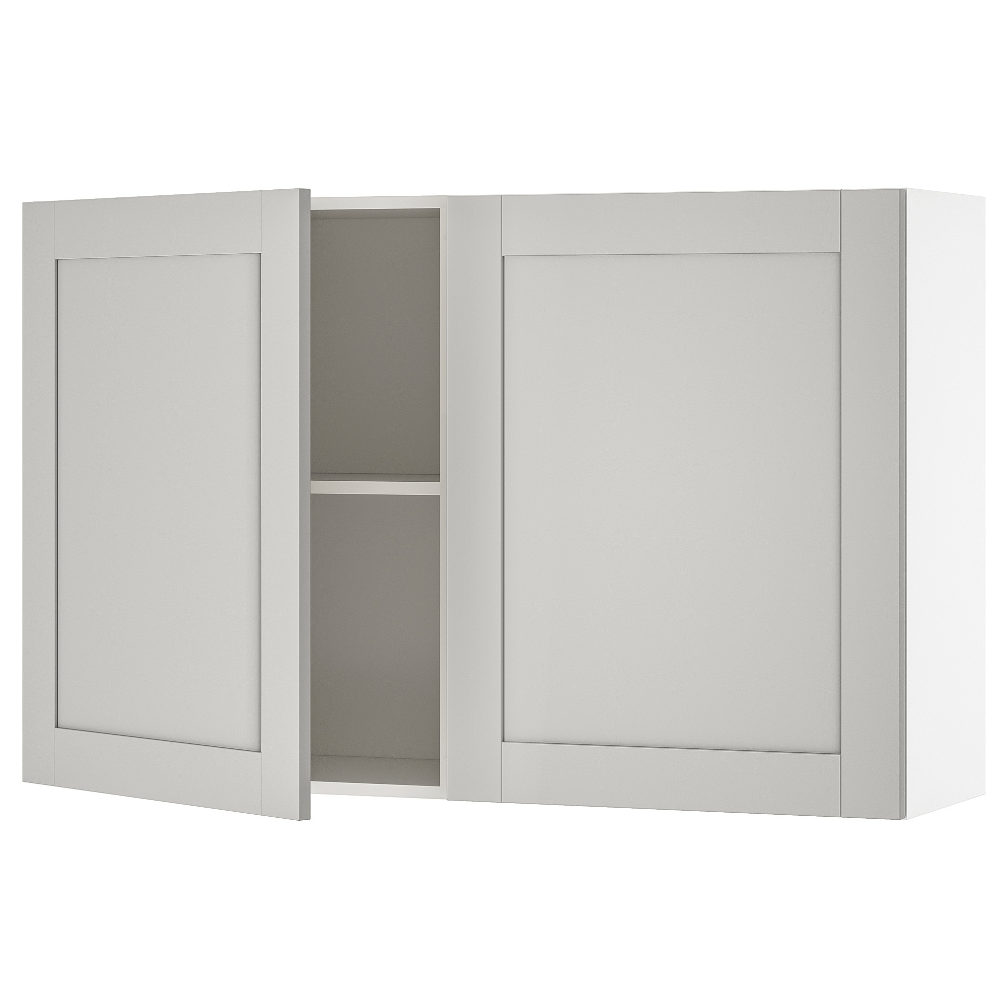Wall Cabinet With Doors Knoxhult Grey