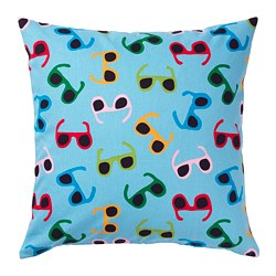 SOMMAR 2019 cushion cover, light blue, multicolor