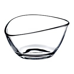 VÄLFYLLD, Decorative bowl, clear glass