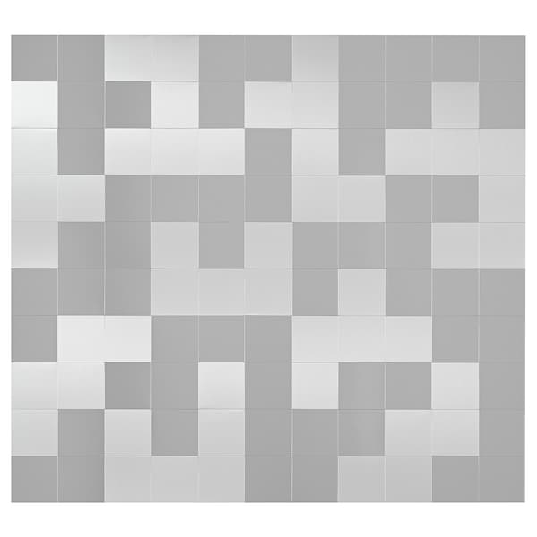 Wall panel LEKSTORP mosaic pattern, stainless steel