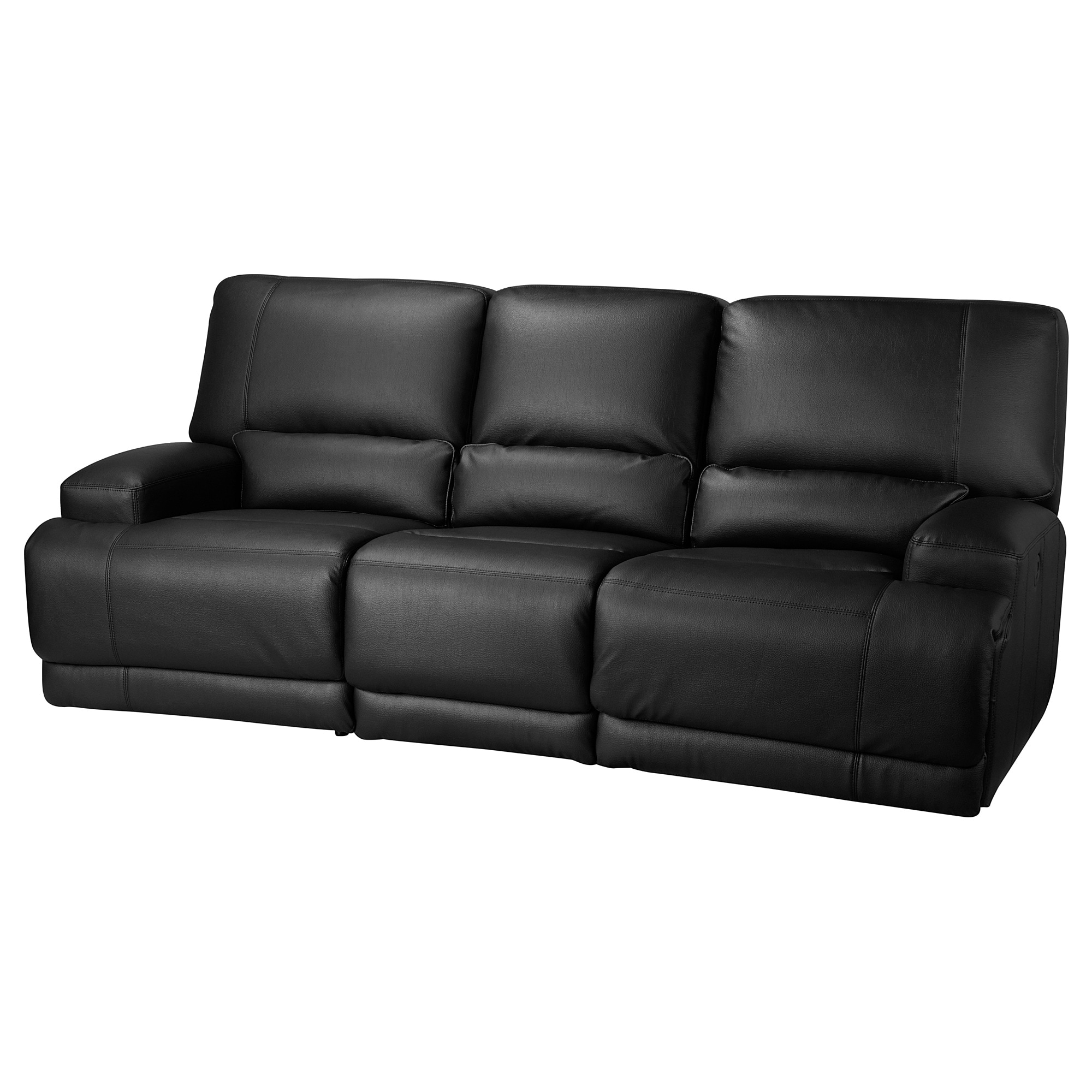 VÄnnÄs Sofa With Adjule Seat Back Murum Black