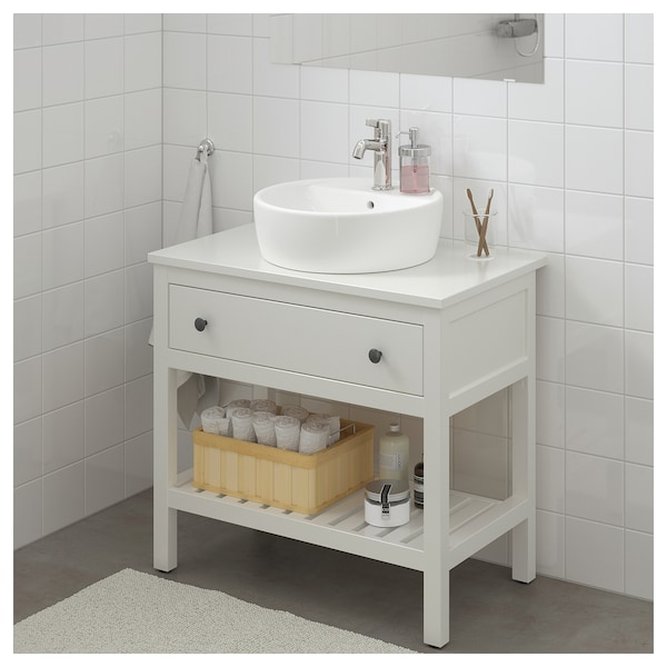 new arrivals 03fc2 9b12d HEMNES Bathroom vanity 1 drawer, white