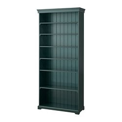 LIATORP bookcase, dark olive-green