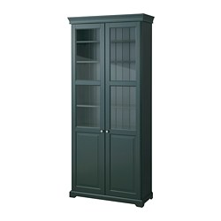 Liatorp Bookcase With Gl Doors