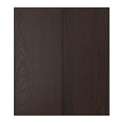 EKESTAD 2-p door/corner base cabinet set, brown