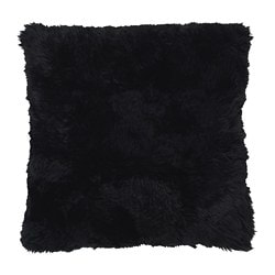 EVALINN cushion cover, sheepskin black