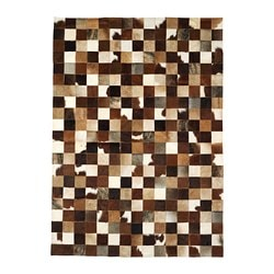 JERLEV cowhide, patch work, beige