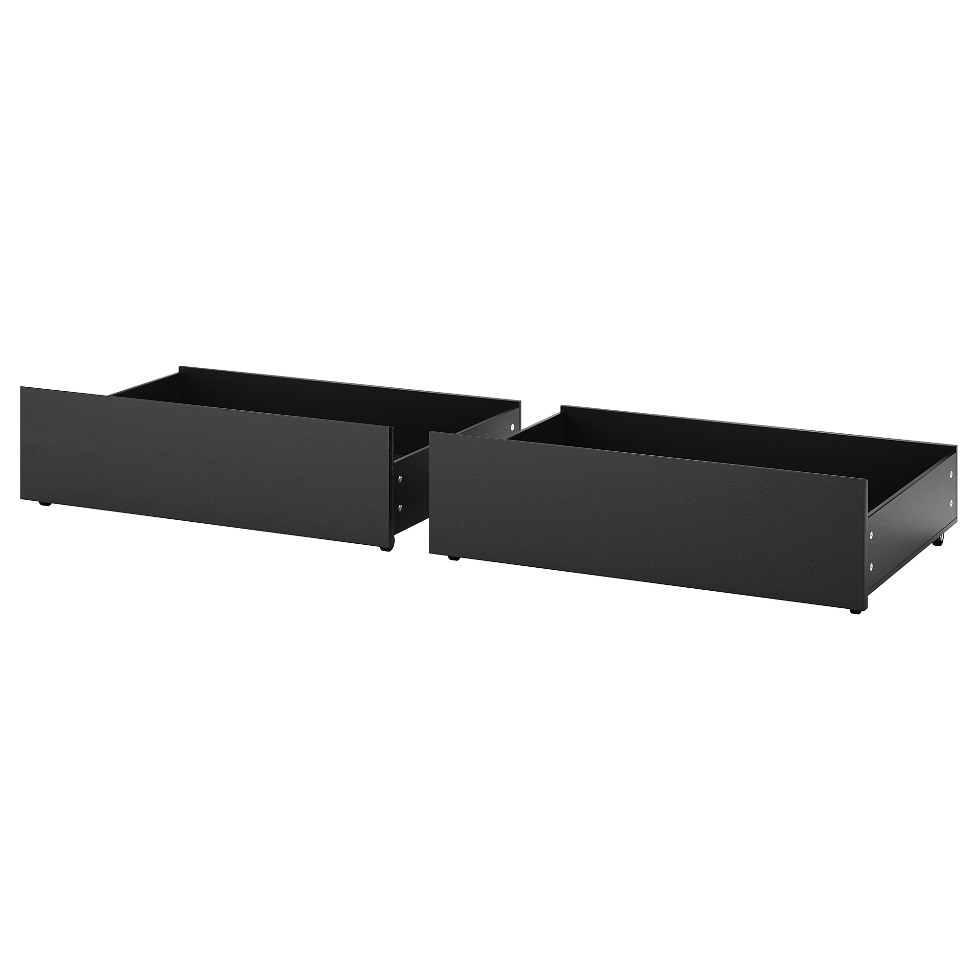 Underbed Storage Box For High Bed Malm Black Brown