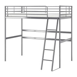 SVÄRTA loft bed frame, silver color
