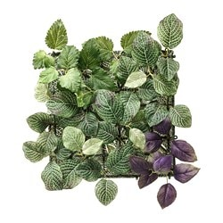 FEJKA artificial plant, wall mounted, in/outdoor green/lilac