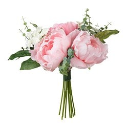 SMYCKA bouquet artificiale, rosa