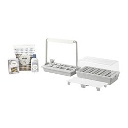 VÄXER grow kit w 8 pots and light fixture