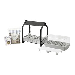 KRYDDA / VÄXER grow kit w 8 pots, 1 tier