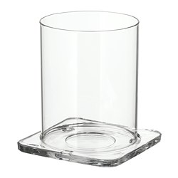 GLASIG lantern, clear glass