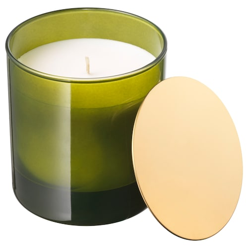 IKEA NJUTNING Scented candle in glass