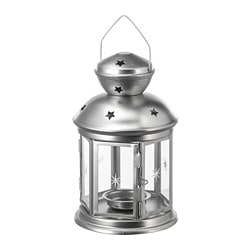 ROTERA lantern for tealight, galvanized indoor/outdoor galvanized