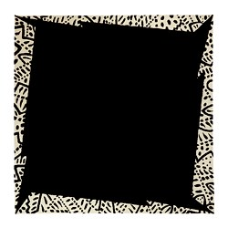 FÄRGSTARK rug, low pile, black, white