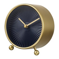 SNOFSA table clock, brass-colour