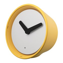 STOLPA clock, yellow