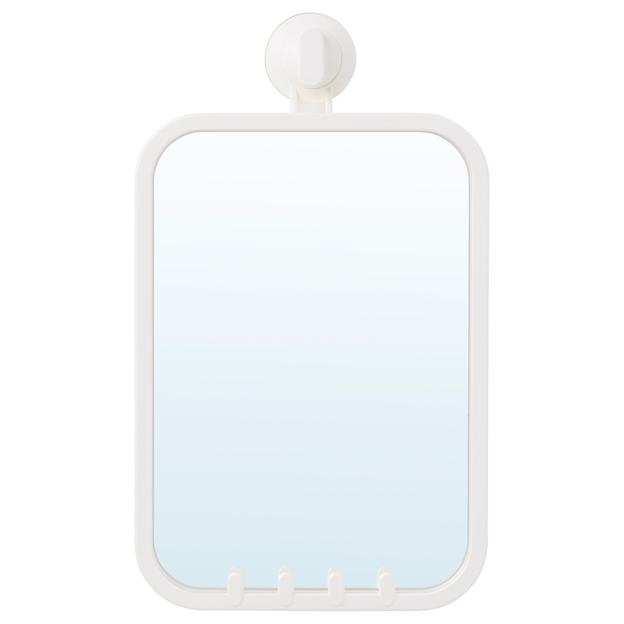 STUGVIK Mirror with hooks and suction cup - IKEA