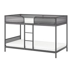 TUFFING bunk bed frame, dark gray