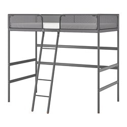 TUFFING loft bed frame, dark gray
