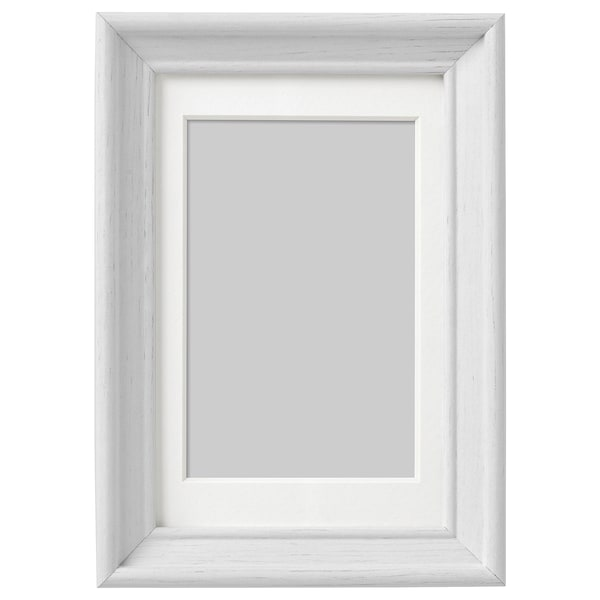 KNOPPÄNG Frame - white stained - IKEA