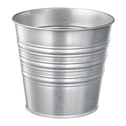 SOCKER plant pot, indoor/outdoor galvanized, galvanized