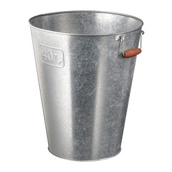 GRÄSLÖK plant pot, in/outdoor galvanised, galvanised