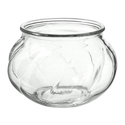 VILJESTARK vase, clear glass