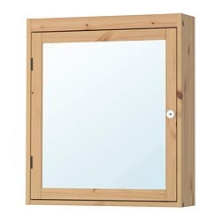 SILVERÅN mirror cabinet, light brown