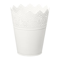 SKURAR plant pot, in/outdoor, off-white