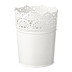 SKURAR plant pot, off-white indoor/outdoor, off-white