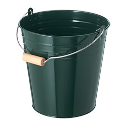 SOCKER bucket/plant pot, in/outdoor, green