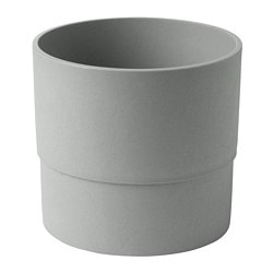 NYPON plant pot, in/outdoor grey