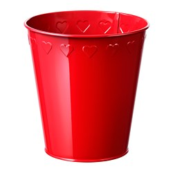 VINTER 2018 plant pot, red